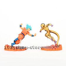 Dragon Ball Super Saiyan Blue God Z Son Goku VS Golden Frieza 2pcs Figure set