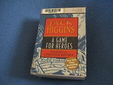 A Game for Heroes by Jack Higgins (2004, Cassette, Unabridged)