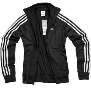 Adidas Damen Trainingsjacke Sport Jacke Laufjacke Fitness Running schwarz silber