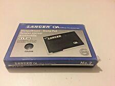 NEW LANCER BLACK INK PAD INK PADS STAMP PAD STAMP PADS 90mm x 60mm