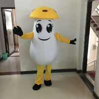 Mushroom Mascot Costume Suit Cosplay Party Game Dress Outfit Halloween Adult #B
