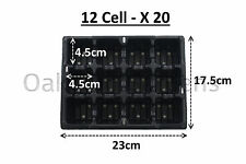 20 x 12 cellule literie plante packs de qualité commerciale plateaux à semis insert barquette en plastique