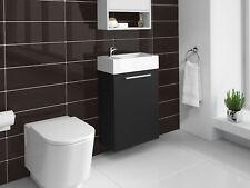 Meuble de salle de bain Athene Bois noir 40x20 cm Armoire de rangement Meuble la