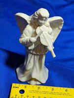 "Lenox Porcelain Xmas FigureAngel Violin Bow 6"" Nativity Doll Statue Scene Staff"