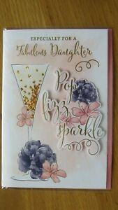A FABULOUS DAUGHTER LARGE SIZE BIRTHDAY CARD
