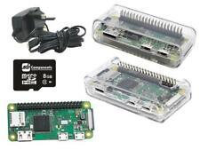 Raspberry Pi Zero W starter Kit with 3m long wire power supply -Clear Case