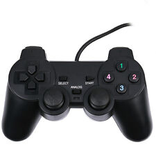 USB 2.0 Wired Game Controller Gamepad Joypad for Laptop PC Computer Black
