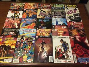 MIXED lot of 24 MARVEL comic books FANTASTIC FOUR DEADPOOL AVENGERS MORE 032