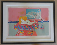 "Peter Max ""By the Window"" Framed Limited Edition Serigraph Hand Signed COA"