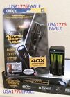 1-ATOMIC BEAM USA TACTICAL FLASHLIGHT / 2-RECHARGEABLE BATTERYS & CHARGER