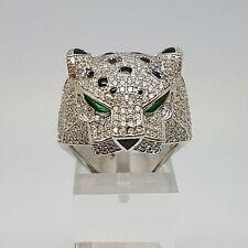 Fabulous Sterling Silver Leopard Ring.  Goldmine Jewellers.