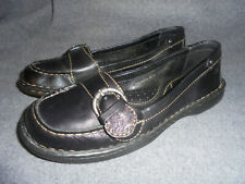 BORN BLACK LEATHER SLIP ON LOAFERS SHOES SIZE 7.5 B  EUR 38.5