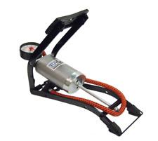 Single Barrel Foot Pump for Car Motorcycle & Bicycle Tyres Includes Adaptors
