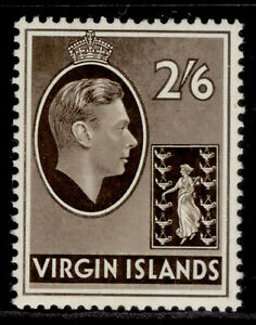 BRITISH VIRGIN ISLANDS GVI SG118a, 2s 6d sepia, LH MINT. Cat £17.