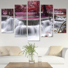 5tlg Leinwand Bild Wandbilder Kunstdruck Landschaft Deko Geschenk aufgespannt