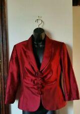 Kaleidoscope Ladies Red Rose Floral Evening Jacket Size 10