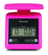 Brecknell  PS7 Electronic Portable Parcel Scale 7 lb x 0.5 oz, Dual, Pink