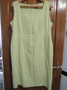 LADIES AUTONOMY LIME GREEN DRESS SIXE 18  HOUSE CLEARANCE