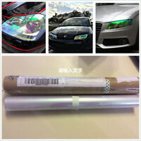 200cm x 30cm Car Headlight Colorful Clear Vinyl Wrap Film Overlay Decal Sticker