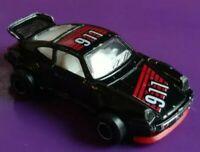 MAJORETTE 209 PORSCHE 911 CARRERA TURBO IN BLACK MADE IN FRANCE 1:57 419dr-pb24