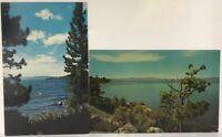 Lot 2 Lake Tahoe Bay Shore in Nevada & California Vintage Postcards