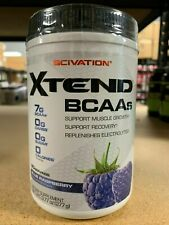 Scivation Xtend BCAA 20 Servings Powder BCAAs Blue Raspberry Fast Free Shipping