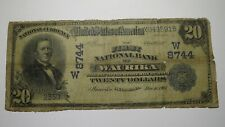 $20 1902 Waurika Oklahoma OK National Currency Bank Note Bill! Ch. #8744 RARE!