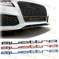 Quattro Logo Emblem Front Grille Rs Style Badge For Audi Audi A1 A4 A6 Q5 Q7 Tt