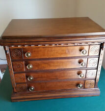 Antique Four Drawer Spool Cabinet