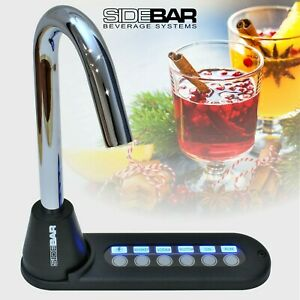SIDEBAR BEVERAGE SYSTEMS LIQUOR DISPENSER, BLUE LED, CHROME - NEW 6880 VERSION