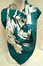 Burberry Luxe foulard écharpe scarf carre платок soie silk 75x75 Prix Recommandé 279 € Petrol