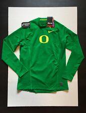 Nike Pro Oregon Ducks Hyperwarm Fitted Long Sleeve Top Shirts Mens Size L