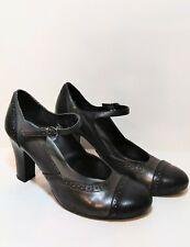Women's Merona Black Gray Mary Jane Platform Pumps Size 9.5 M (Steampunk) Heels