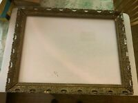 Antique Large Gesso on Wood Ornate Picture Frame