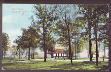 SAGINAW MICHIGAN MI c1910 Hoyt Park Vintage Postcard PC
