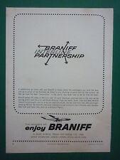 9/1964 PUB BRANIFF AIRWAYS AIRLINES US CITIES SOUTH AMERICA AIRLINER ORIGINAL AD