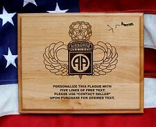 Personalized 82ND AIRBORNE DIVISION Plaque, Paratrooper, U.S. ARMY GIFT, pcs ets