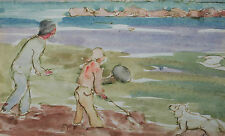 Impressionist Style Watercolor Painting - Unsigned - Canada - Mid 20th Century