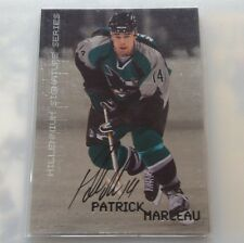 99/00 Be A Player Millenium PATRICK MARLEAU San Jose Sharks Certified Auto #210