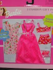 2000 BARBIE PINK 3 FASHION GIFT PACK SET #68585