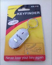 Whistle Lost Car Key Finder  Keyrings Locater with LED Light FG DSUK