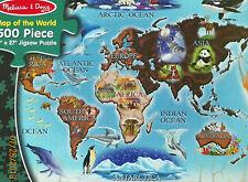 PUZZLE.JIGSAW......Melissa&Doug .....Map Of The World....500 Pc...Sealed