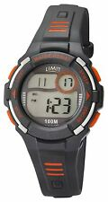 Limit Racing Active Kids Digital Grey & Orange Sports Watch 5635