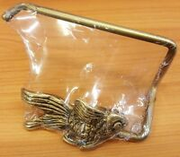 Brass Tissue Paper Holder Gold Fish Wall Mount ฺToilet Vintage Home Decor Living