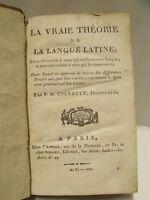M2 - LA VRAIE THEORIE DE LA LANGUE VIVANTE par P.M. COLBAULT en  1802