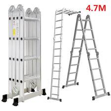 4.7M/15.5FT Folding Multi-Purpose Telescopic Ladder Extendable Aluminium Ladder