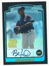 Ben Francisco 2003 Bowman Chrome Autograph baseball card # 342,Cleveland Indians