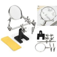 Clamp Third Hand Soldering Iron Stand Holder Helping Magnifier Jewelry Tool CA