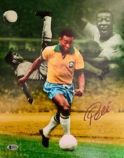 Pele Signed 11x14 Photo Soccer Brazil Collage - Autographed BAS Beckett COA