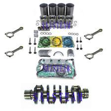 4HE1 4HE1T 4.8L Diesel Engine Rebuild Kit &4 Con Rods& Crankshaft NPR NQR GMC